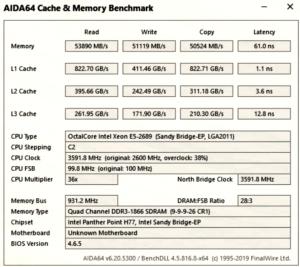 AIDA64 Intel Xeon E5 2689