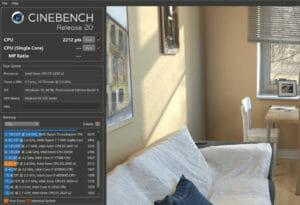 Cinebench Intel Xeon E5-2650v2