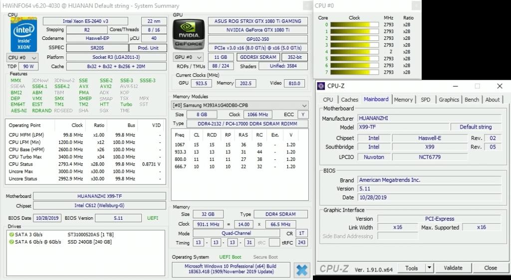 HWINFO и CPU-Z