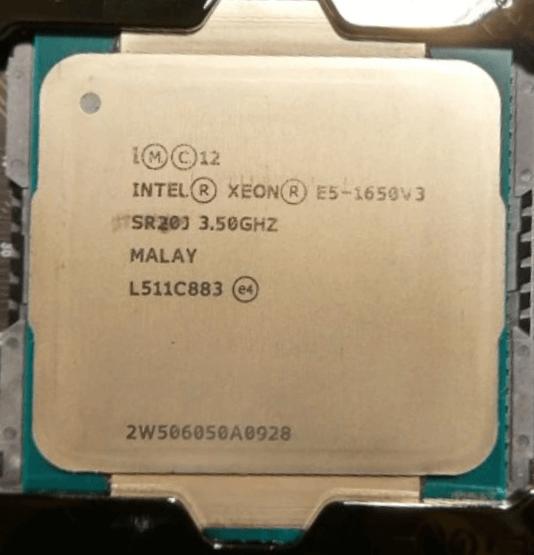 Xeon E5 1650v3