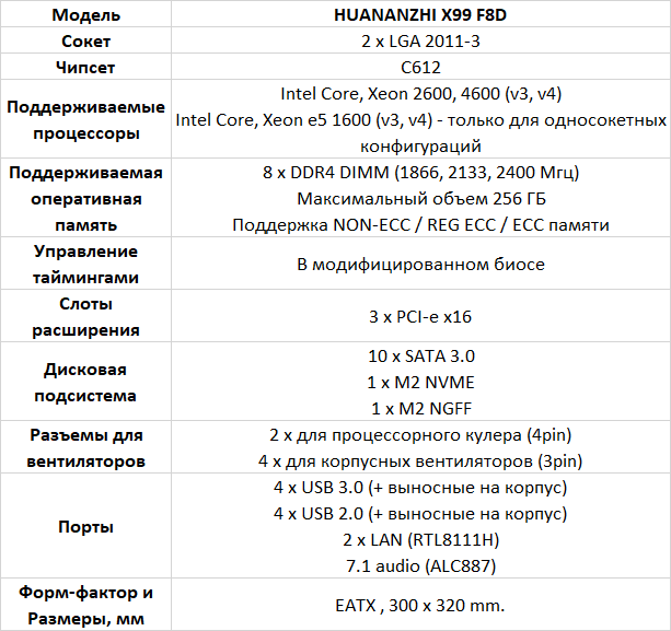 Huananzhi X99-F8D