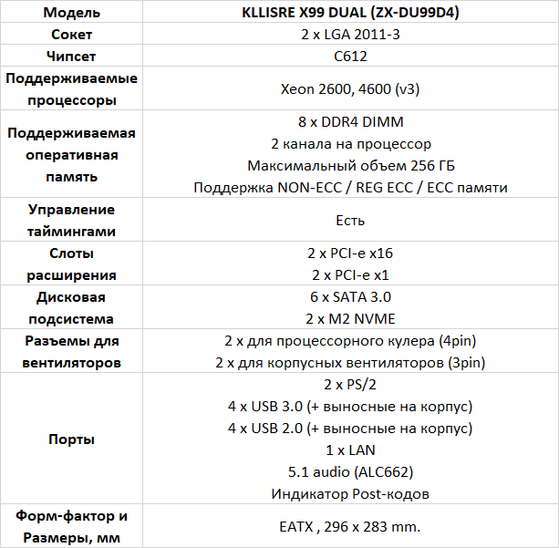 Kllisre X99 Dual