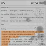 Процессор Ryzen 3 3100 Cinebench