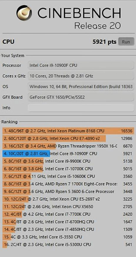 процессор intel core i9 10900k