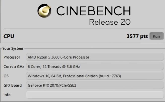 процессор amd ryzen 5 3600 cinebench